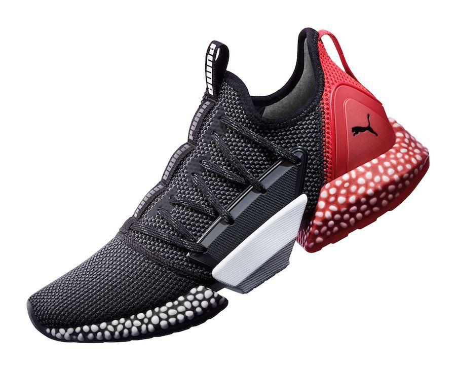 Кроссовки Puma Hybrid Rocket Runner Black/White/Red - фото 3