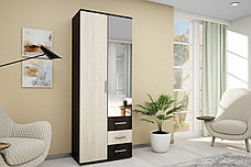 Шкаф для одежды 2Д (2Д) Белла, Дуб Атланта, БТС (Россия), фото 3