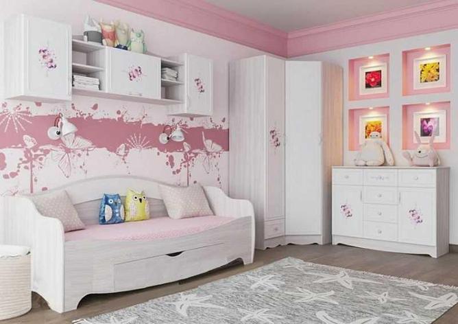 Комплект мебели для детской Акварель 1, Белый, СВ Мебель(Россия), фото 2