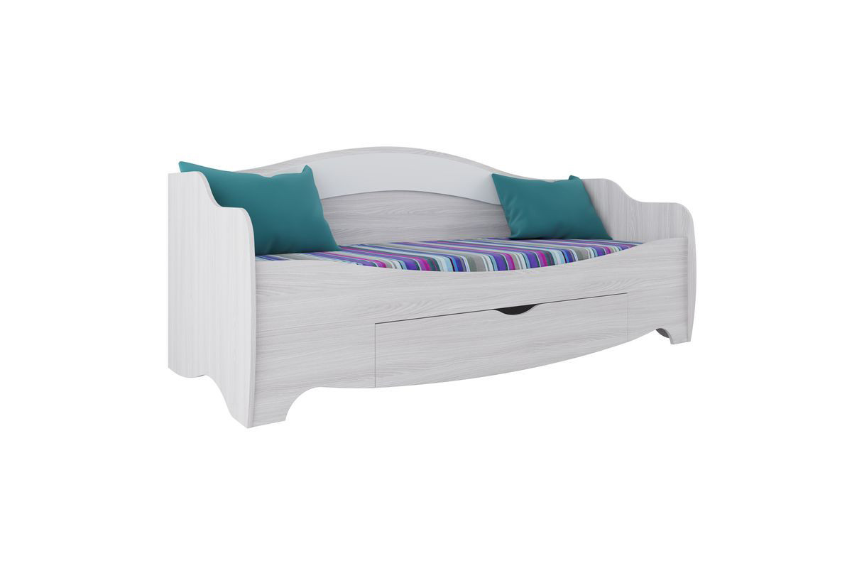 Кровать односпальная, модульной системы Акварель 1, Белый, СВ Мебель (Россия)