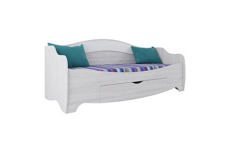 Кровать односпальная, модульной системы Акварель 1, Белый, СВ Мебель (Россия), фото 2