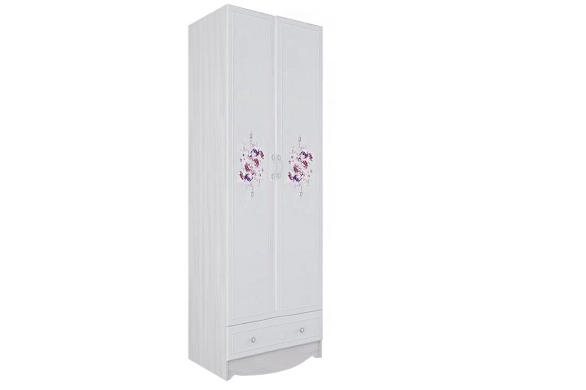 Шкаф для белья 2Д , модульной системы Акварель 1, Белый, СВ Мебель (Россия)