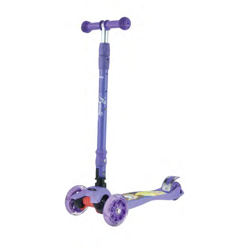 Самокат детский Scooter MG-03MZ, Фиолетовый Красавица и Чудовище