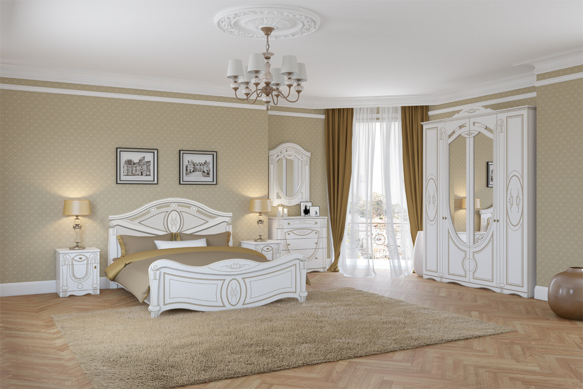 Комплект мебели для спальни Александрина, Белый, Империал(Россия)