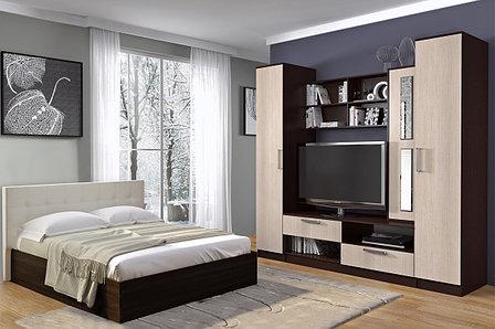 Кровать двуспальная (160) Баунти, Венге, БТС (Россия), фото 2