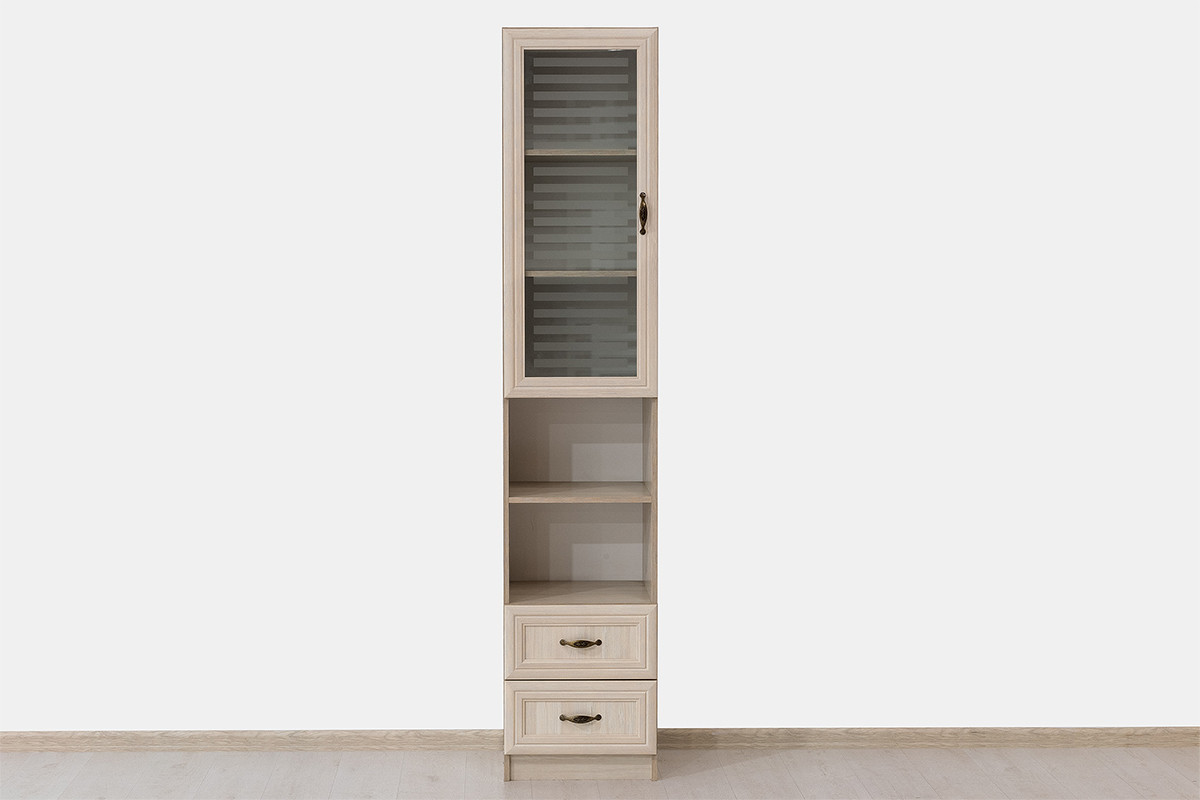 Шкаф витрина 1Д , коллекции Вега, Сосна Карелия, СВ Мебель (Россия)