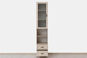 Шкаф витрина 1Д , коллекции Вега, Сосна Карелия, СВ Мебель (Россия), фото 2