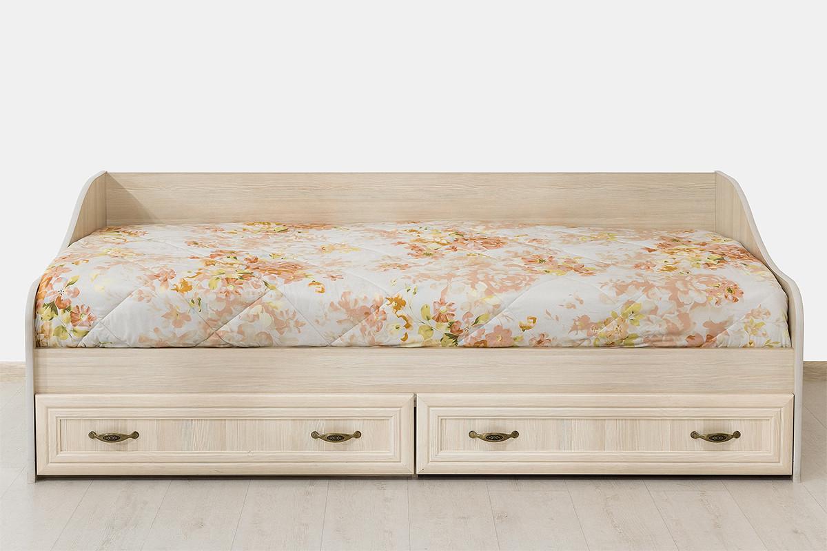 Кровать односпальная, коллекции Вега, Сосна Карелия, СВ Мебель (Россия)