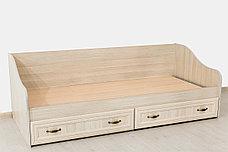 Кровать односпальная, коллекции Вега, Сосна Карелия, СВ Мебель (Россия), фото 3