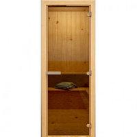 Дверь широкая Hot Line #1312 (бронза,осина)