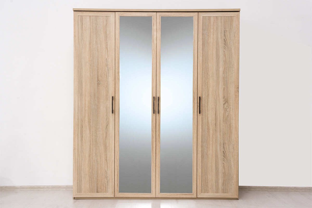 Шкаф для одежды  4Д  (Вега Прованс 4Д (2Д2З)) коллекции Вега Прованс, Дуб Сонома, Кураж (Россия)