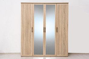 Шкаф для одежды 4Д (Вега Прованс 4Д (2Д2З)) коллекции Вега Прованс, Дуб Сонома, Кураж (Россия), фото 2