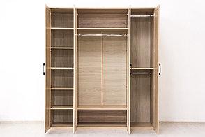 Шкаф для одежды 4Д (Вега Прованс 4Д (2Д2З)) коллекции Вега Прованс, Дуб Сонома, Кураж (Россия), фото 3
