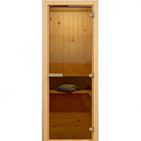 Дверь широкая и высокая Hot Line #1412 (бронза,осина)