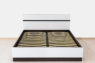 Кровать двуспальная (160), коллекции Вегас, Белый, Горизонт (Россия), фото 2