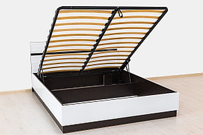 Кровать двуспальная (160), коллекции Вегас, Белый, Горизонт (Россия), фото 3