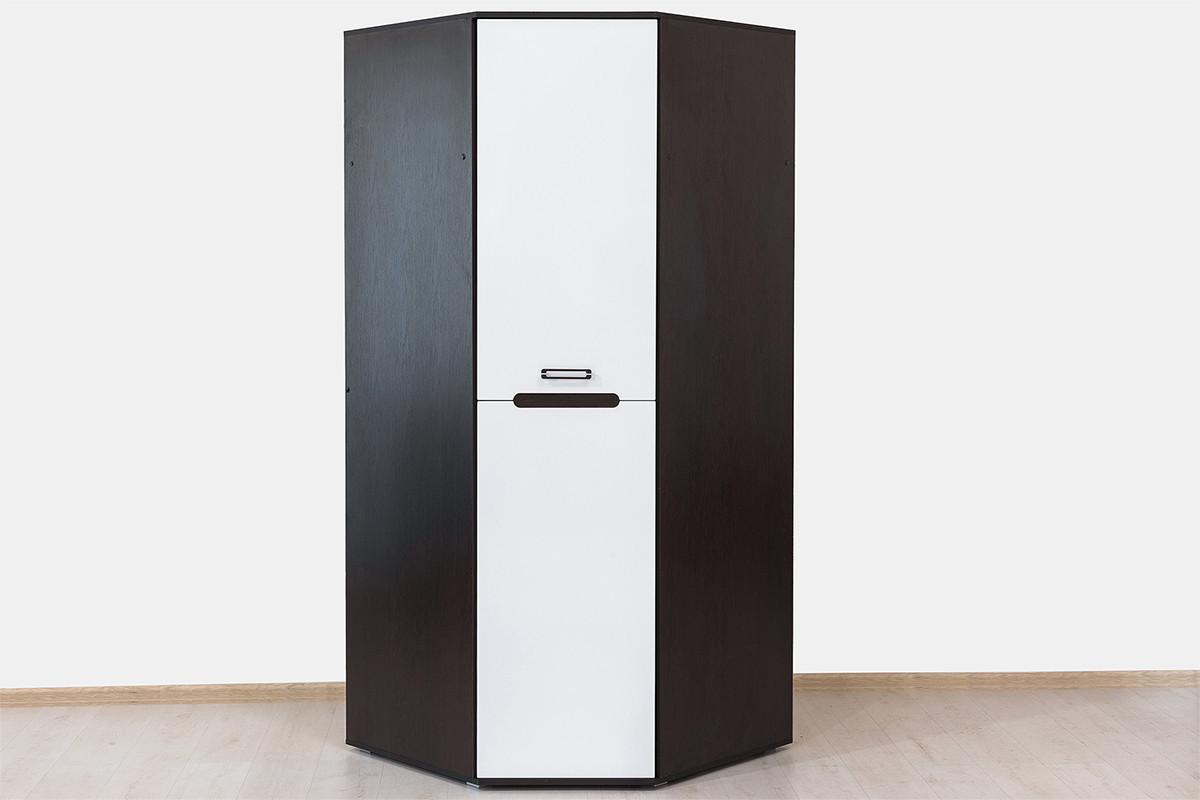 Шкаф для одежды угловой 1Д (1Д), коллекции Вегас, Белый, Горизонт (Россия)