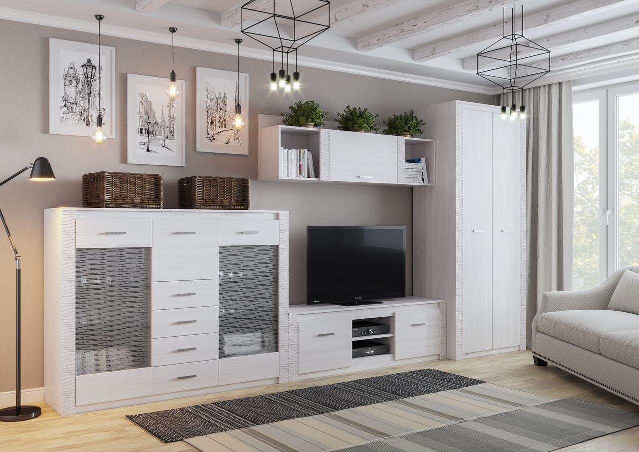 Комплект мебели для гостиной Гамма 20, Ясень Анкор светлый, СВ Мебель(Россия)