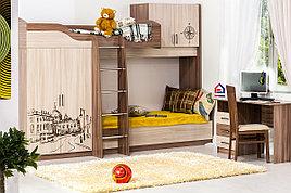 Город - Комплект для детской 3450, Ясень Шимо темный/светлый, СВ Мебель
