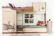 Кровать двухъярусная, модульной системы Город, Ясень, СВ Мебель (Россия), фото 2