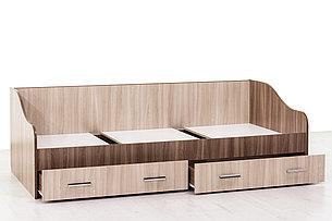Кровать односпальная, модульной системы Город, Ясень Шимо светлый, СВ Мебель (Россия), фото 2