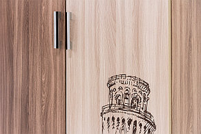 Шкаф для одежды 2Д , модульной системы Город, Ясень Шимо светлый/Шимо темный, СВ Мебель (Россия), фото 3