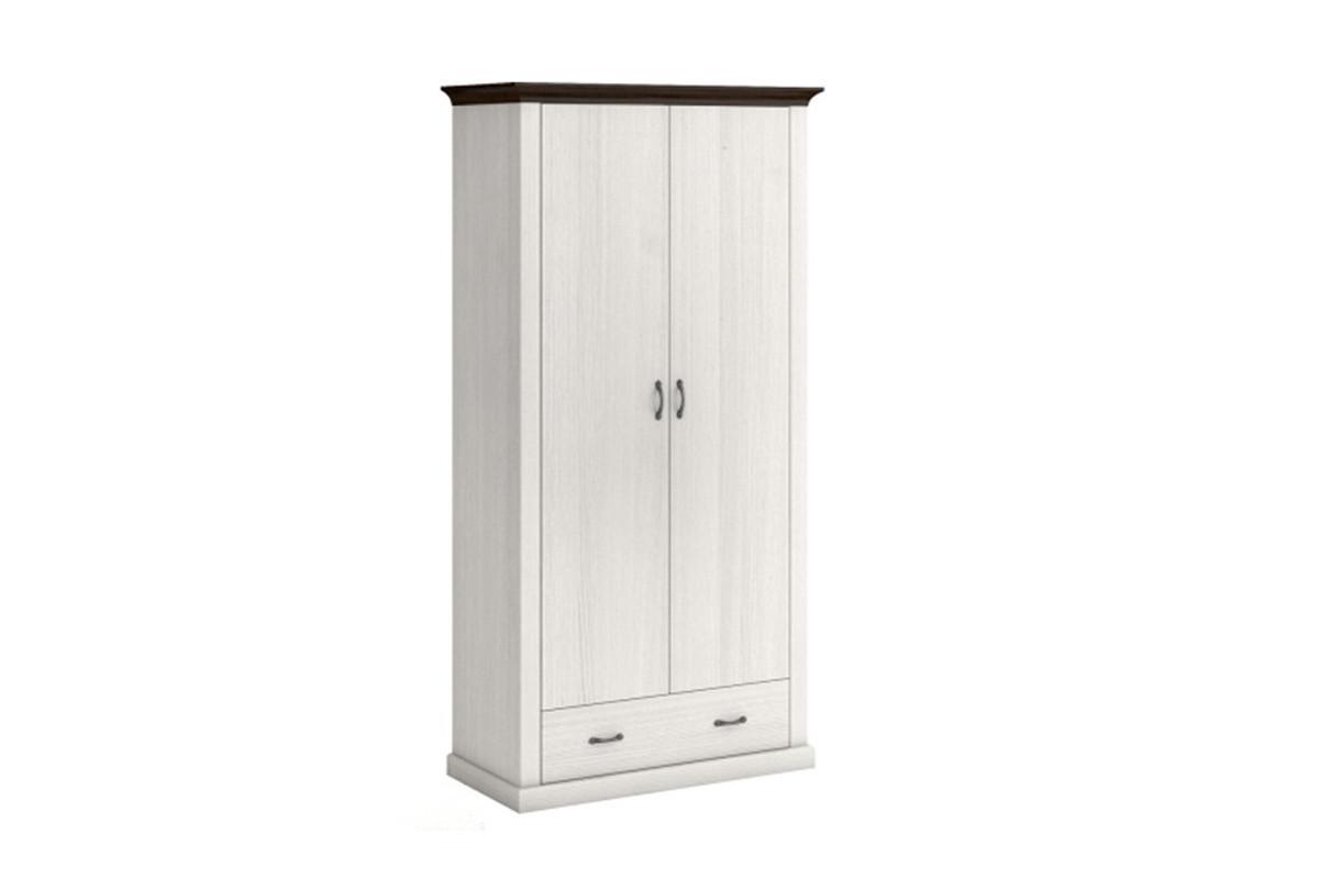 Шкаф для одежды 2Д (Лавенда Lavenda 2d1s), коллекции Лавенда, Сосна Норвежская, VMV (Украина)