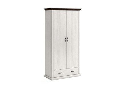 Шкаф для одежды 2Д (Лавенда Lavenda 2d1s), коллекции Лавенда, Сосна Норвежская, VMV (Украина), фото 2