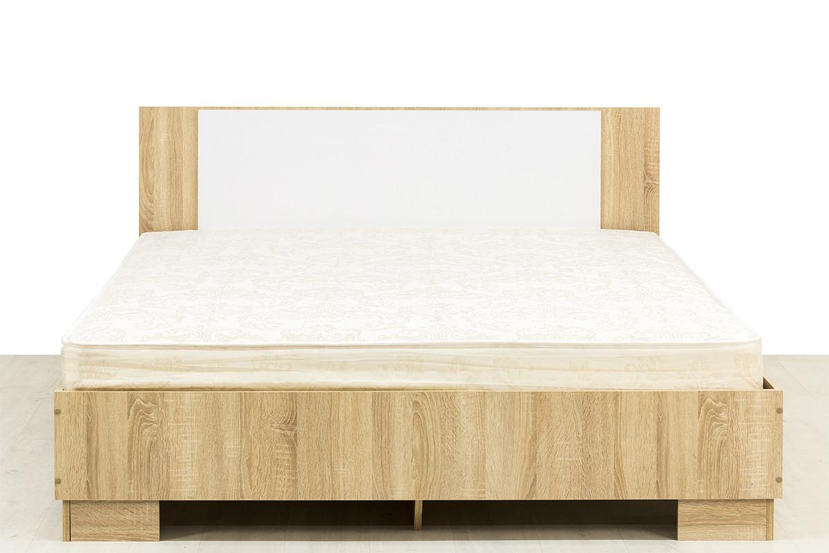 Кровать двуспальная, модульной системы Лагуна 2, Белый Глянец, СВ Мебель (Россия)
