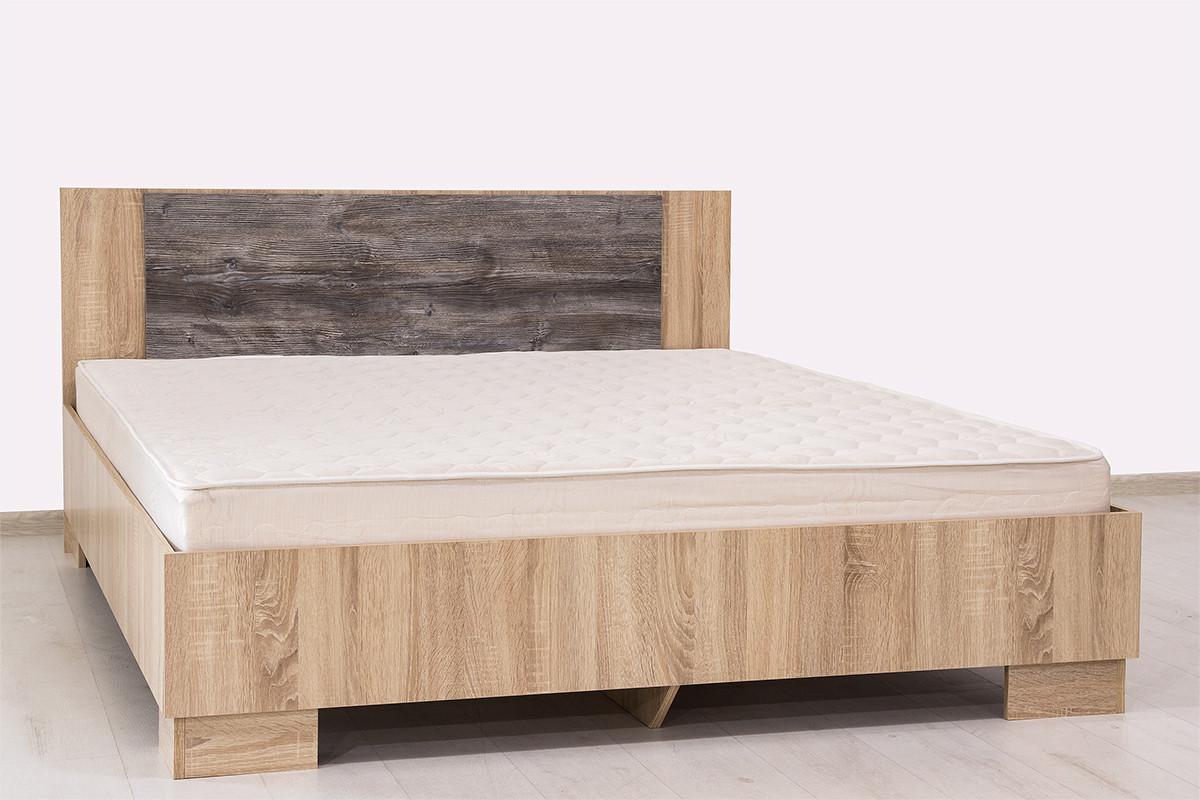 Кровать двуспальная, модульной системы Лагуна 2, Сосна Джексон, СВ Мебель (Россия)