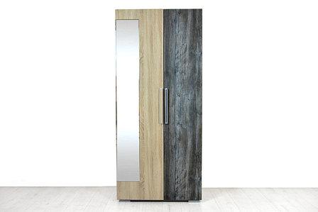 Шкаф для одежды 2Д , модульной системы Лагуна 2, Сосна Джексон, СВ Мебель (Россия), фото 2
