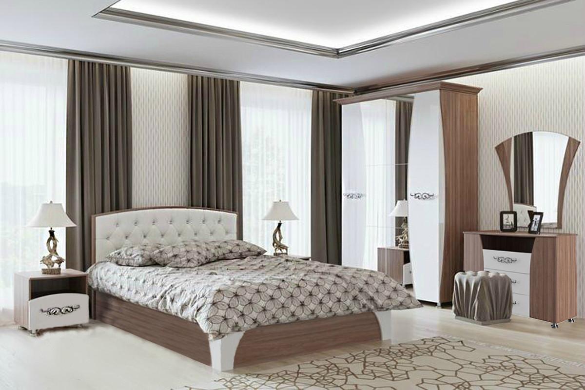 Комплект мебели для спальни Лагуна 7, Жемчуг, СВ Мебель(Россия)
