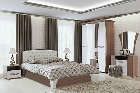 Комплект мебели для спальни Лагуна 7, Жемчуг, СВ Мебель(Россия), фото 2