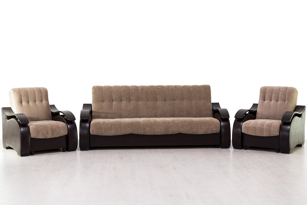 Комплект мягкой мебели Рио 4, Кофе с молокомАСМ(Россия)