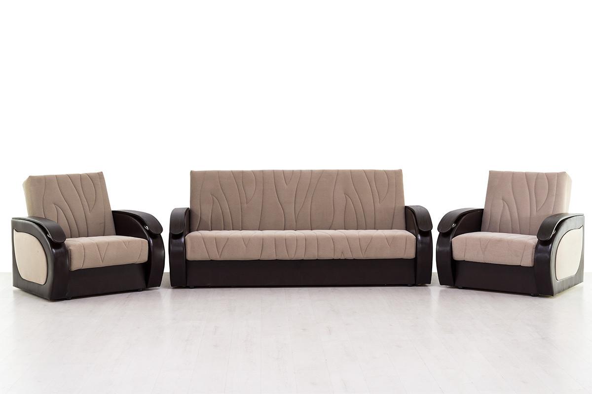 Комплект мягкой мебели Сиеста 2, Бежевый Темный, АСМ(Россия)