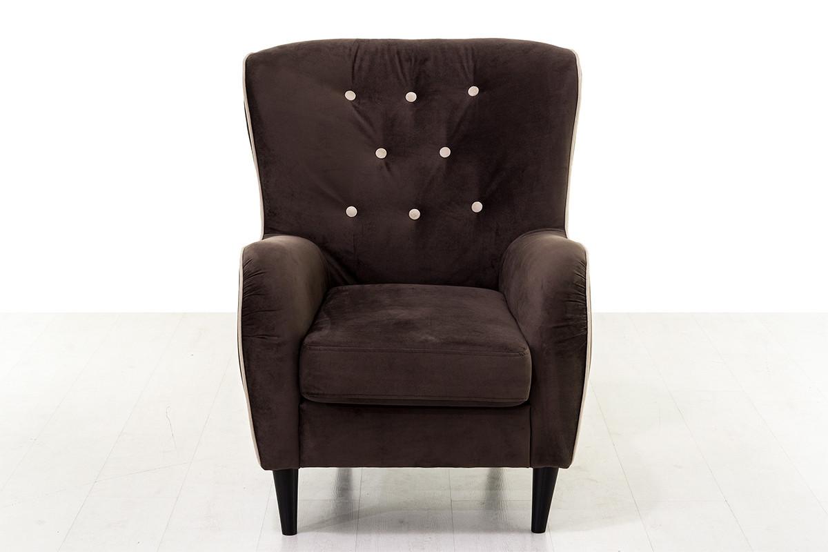 Кресло традиционное Мадрид 315, 258, коричнево-/бежевый, СМК (Россия)