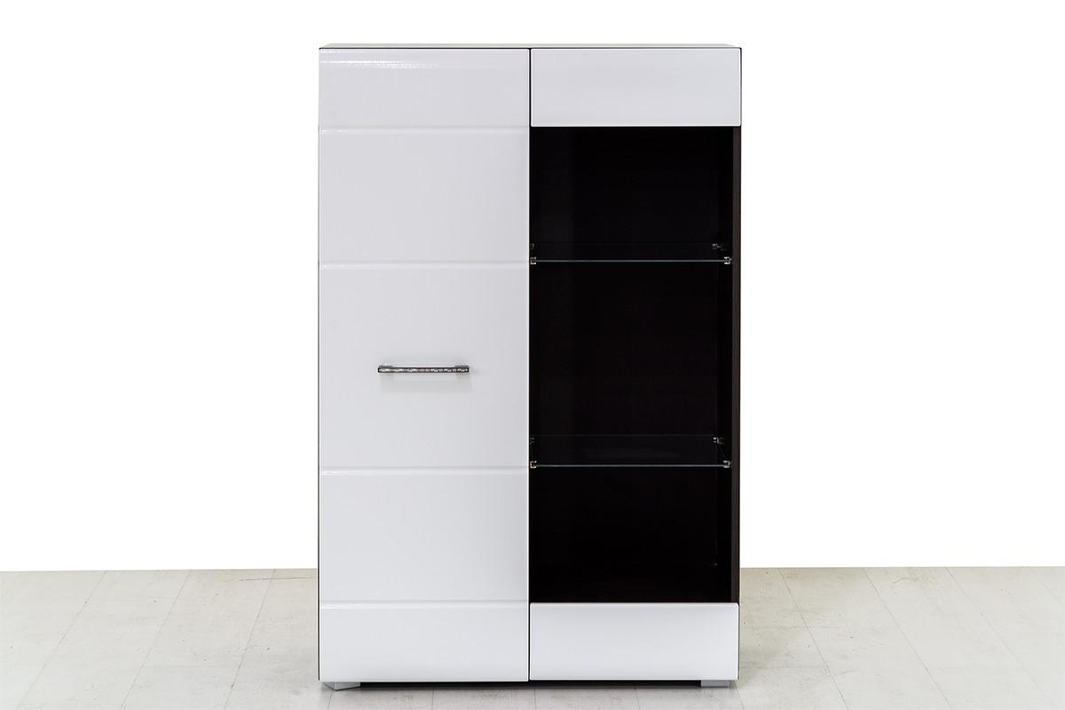 Шкаф стеллаж 1Д , коллекции Ненси, Белый, Горизонт (Россия)