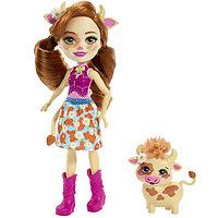 Mattel Enchantimals FXM77 Кукла с питомцем Коровка Кейли