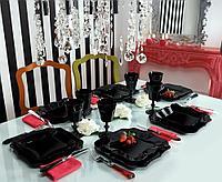 Столовый сервиз Luminarc Authentic Black 18 предметов на 6 персон