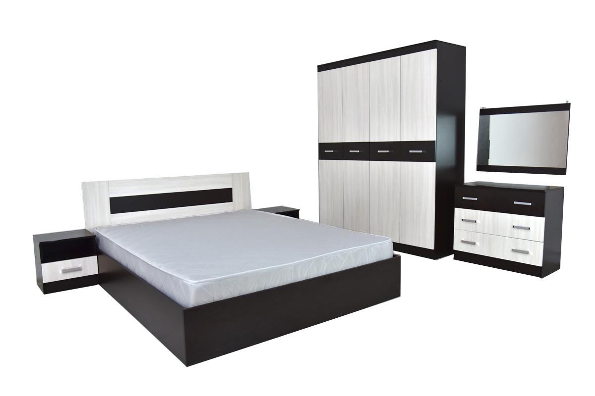 Комплект мебели для спальни Сити 3, Ясень Анкор светлый, Астрид-Мебель(Россия)