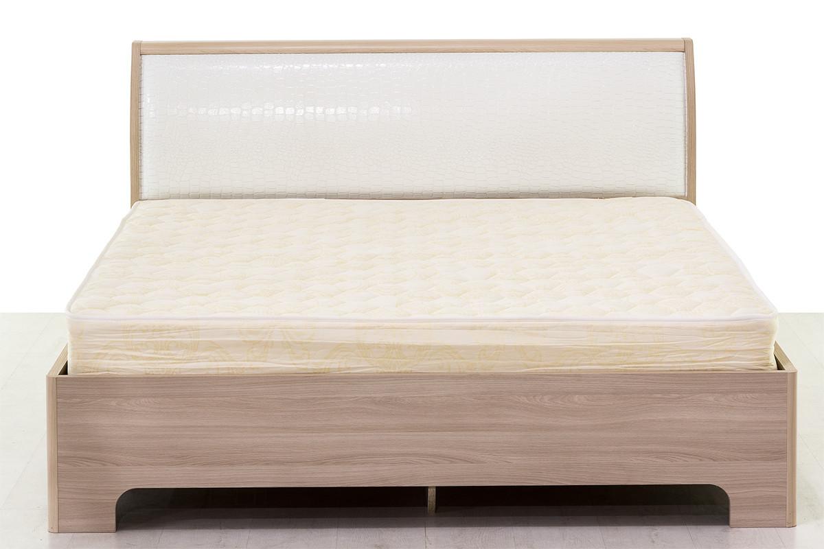 Кровать двуспальная, модульной системы Сорренто, Ясень Светлый, Кураж (Россия)