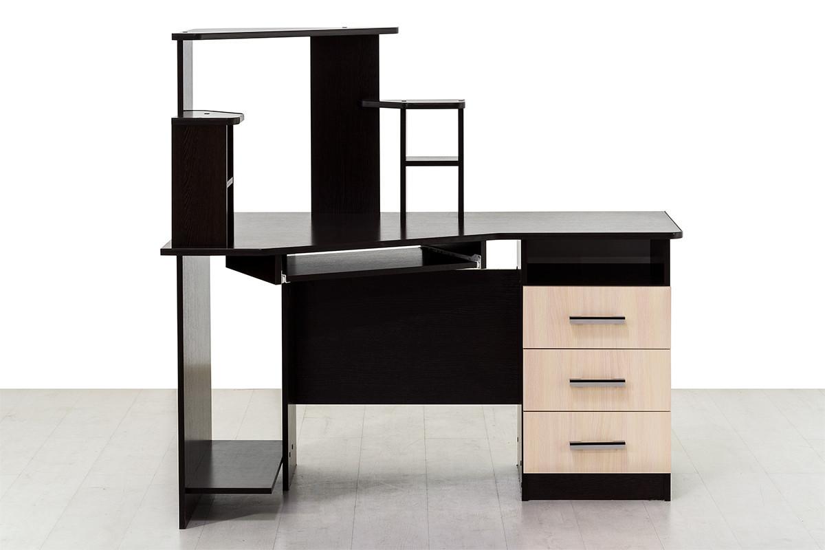 Стол компьютерный, угловой 3, Дуб Млечный , СВ Мебель (Россия)