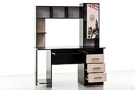 Стол компьютерный 6, Дуб Млечный , СВ Мебель (Россия)