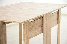 Стол книжка раздвижной, Дуб Сонома 101, СВ Мебель (Россия), фото 3