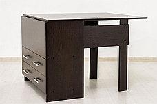Стол книжка раздвижной, Дуб Венге 102, СВ Мебель (Россия), фото 2