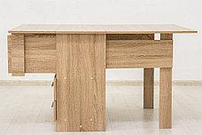 Стол книжка раздвижной, Дуб Сонома 102, СВ Мебель (Россия), фото 2