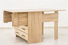 Стол книжка раздвижной, Дуб Сонома 102, СВ Мебель (Россия), фото 3