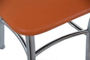 Стул Классик 5, Металл/Серебро, Рустика Оранж, СВ Мебель (Россия), фото 2