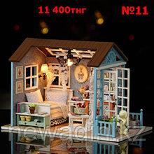 Кукольный сувенирный домик в миниатюре (собери сам)