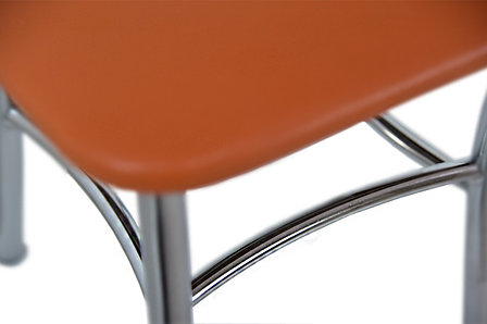 Табурет Классик 2, Металл/Серебро, Рустика Оранж, СВ Мебель (Россия), фото 2